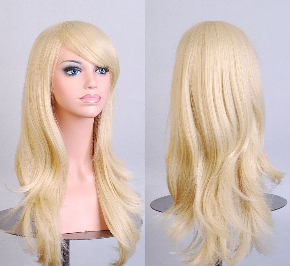 Light Blonde wig Cospaly 70CM