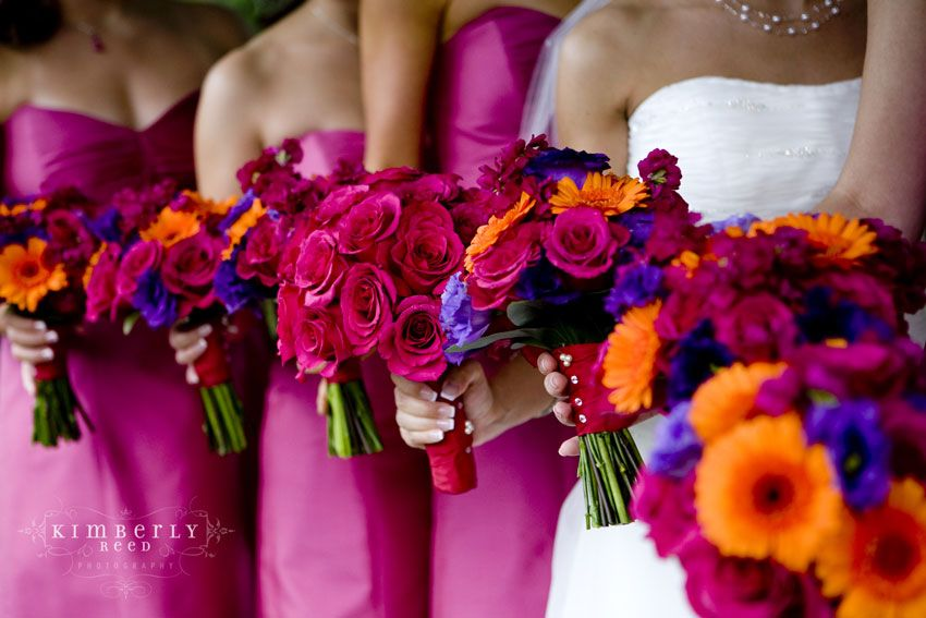 Image detail for -help with themes and ideas please! - Summer Weddings, roses, orange, fuscia, blue, gerbera daisies