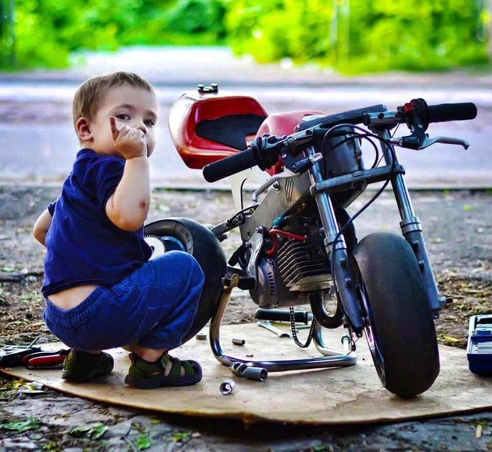 яркие мощные картинки малыши на мотоцикле говорят