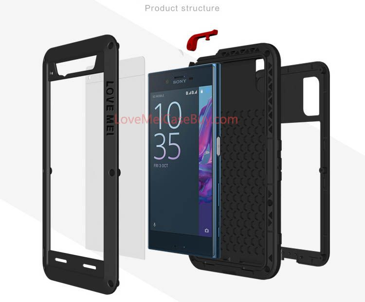 competitive price 3b51b e6076 Love Mei Powerful Sony Xperia XZ Protective Case | Love Mei Sony ...