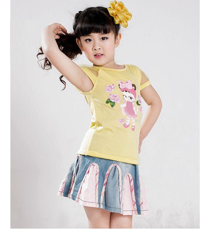 Aliexpress.com  Buy Korea Style Free Shipping Girls Summer Clothes Little Denim Blue Skirt ...