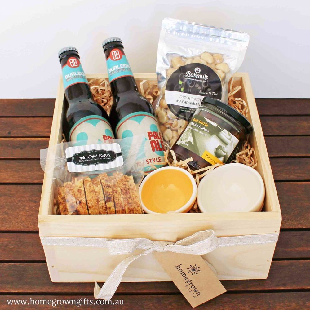 A craft beer gift hamper is only complete with an array of
