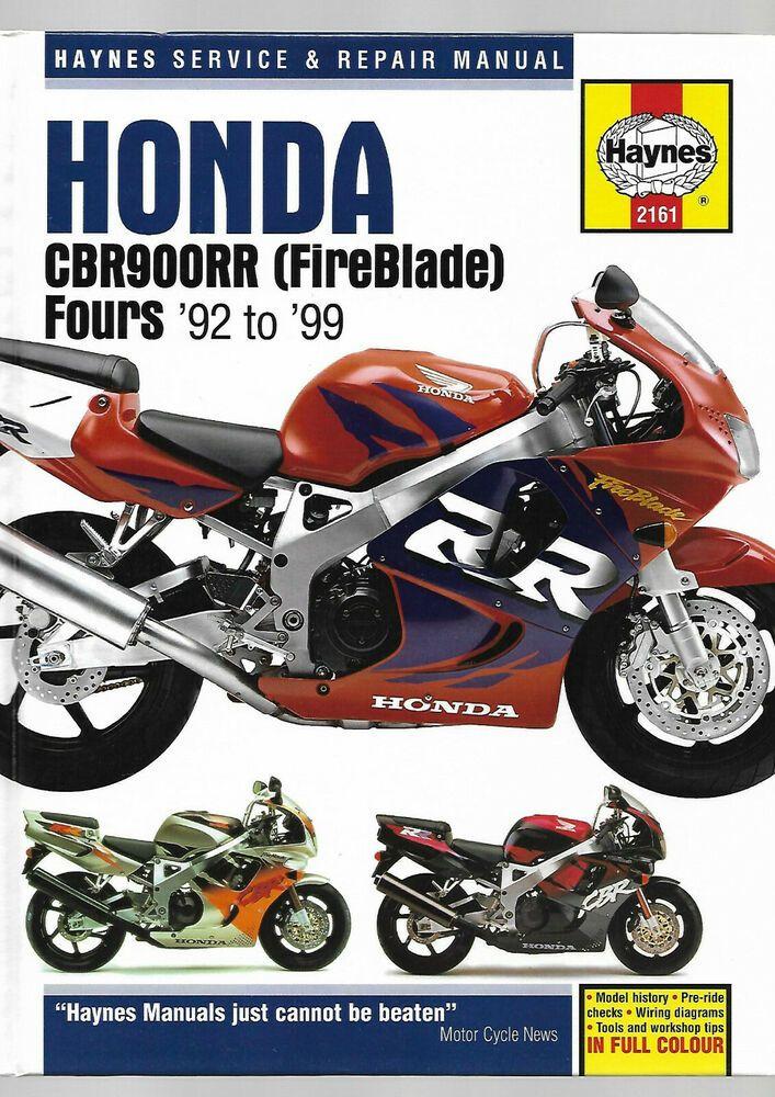 Haynes Honda Cbr900rr Fireblade Fours 92 99 N P R S T V W