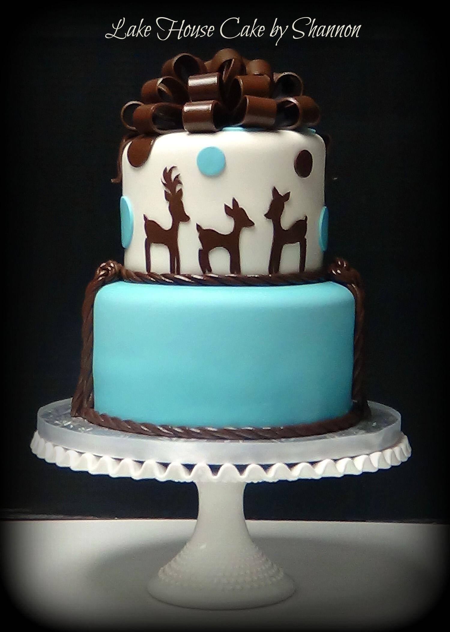 Permalink to Luxury Deer Baby Shower Cake