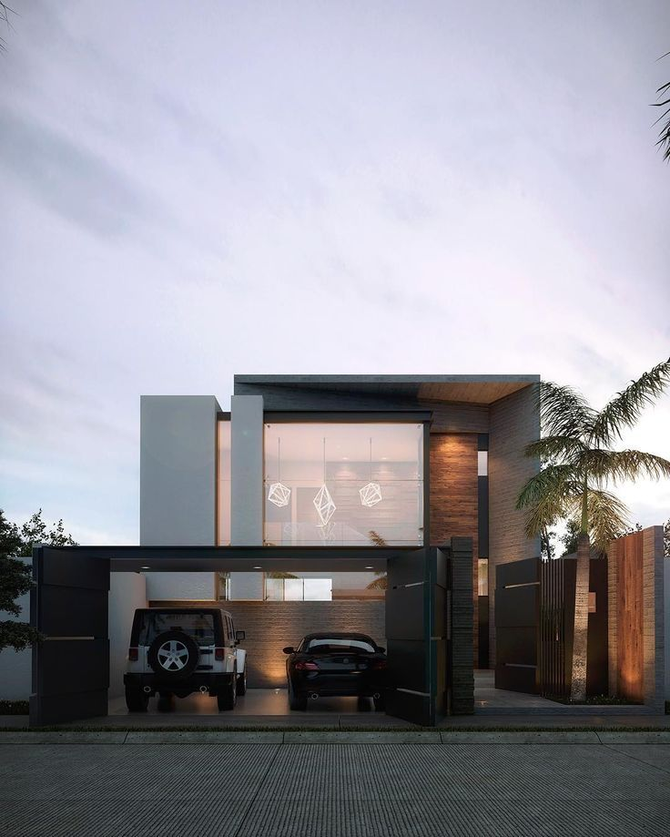 Contemporary Architecture House Modern Exterior Elevation: Instagram Modern House Wood Fachade