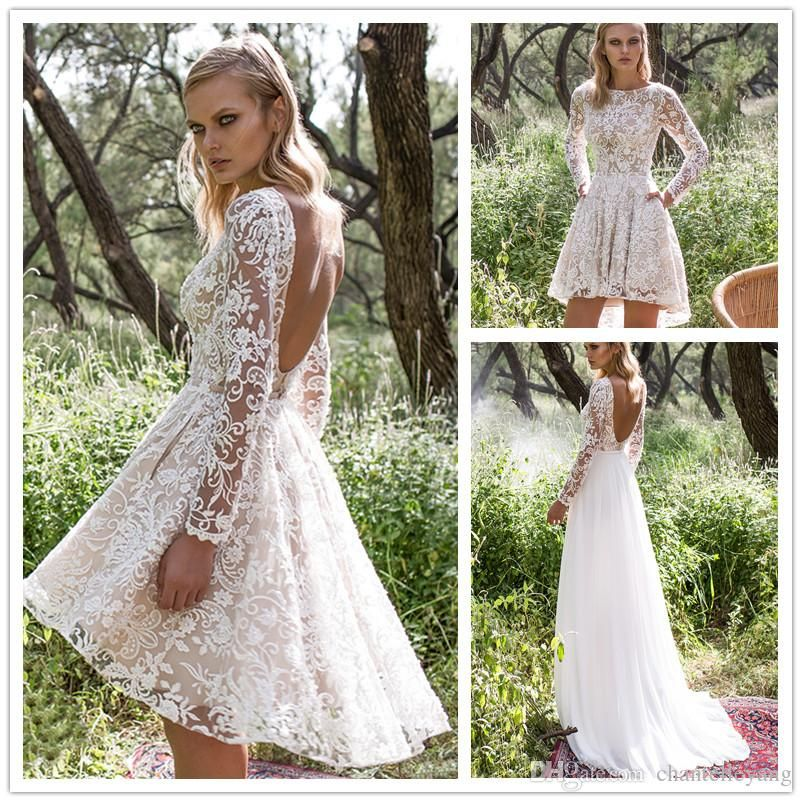 Vintage Lace Wedding Dress With Detachable Skirt Cheap