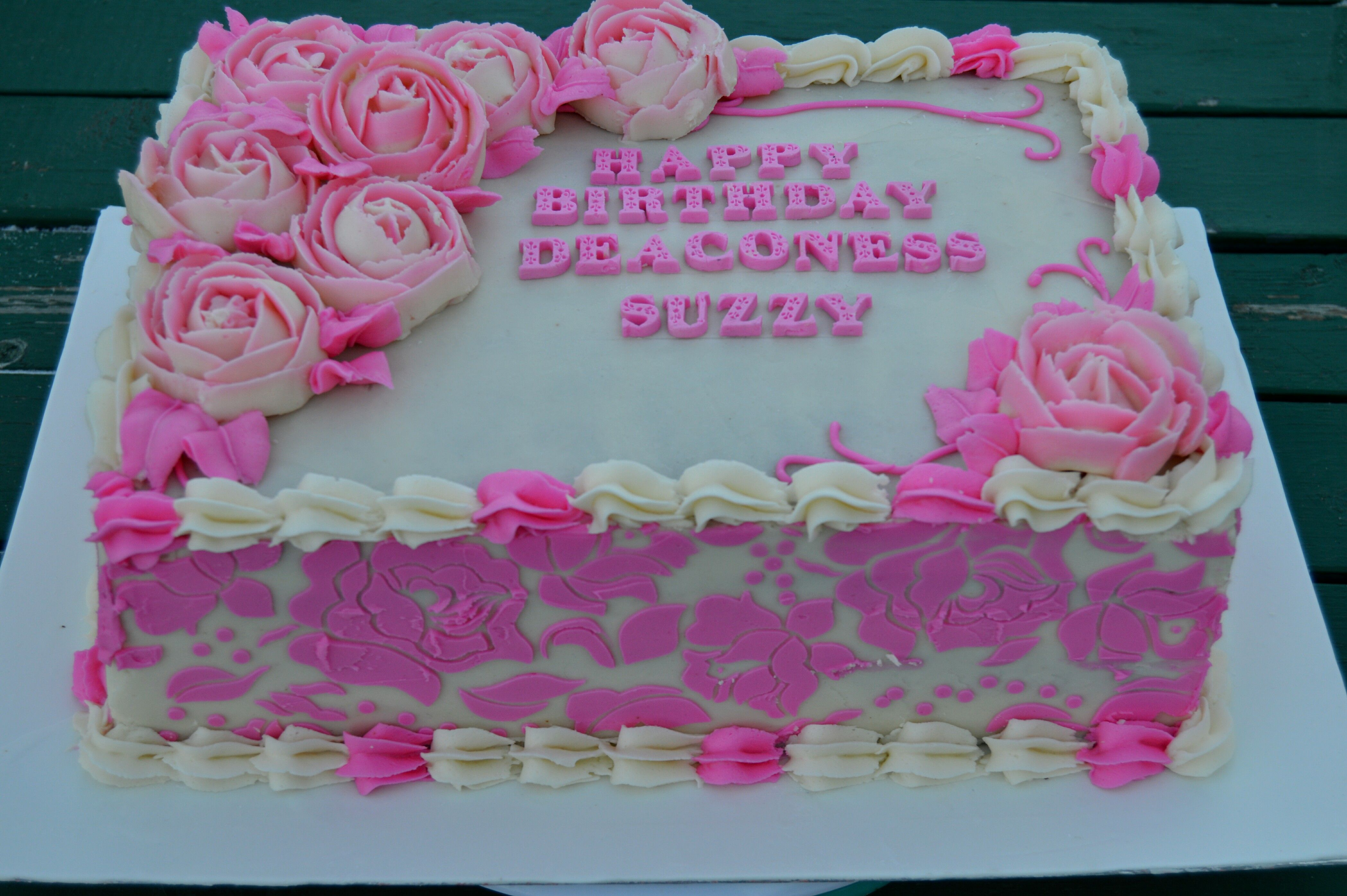 The Making Of A Stenciled Buttercream Sheet Cake Cake