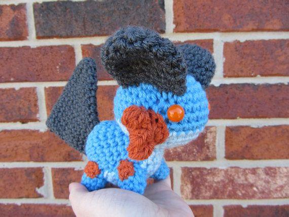 Made to Order - Crochet - Chibi Pokemon Amigurumi - Swampert by corlista on Etsy