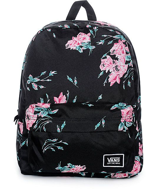 f703b4cec07254 Add a delicate style to your backpack with the Realm Classic Summer backpack  from Vans.