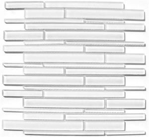 Bella Glass Tiles Cane Series Super White CN25