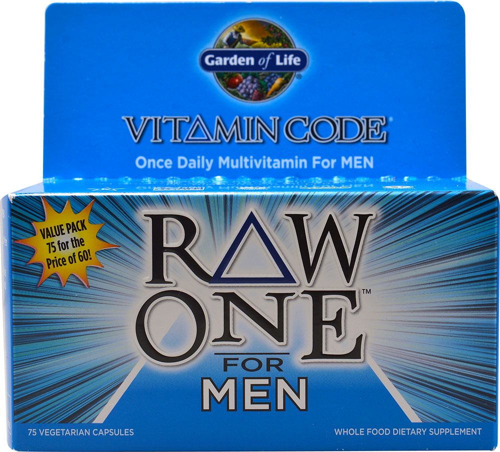 Garden of Life Vitamin Code RAW One Multivitamin for Men