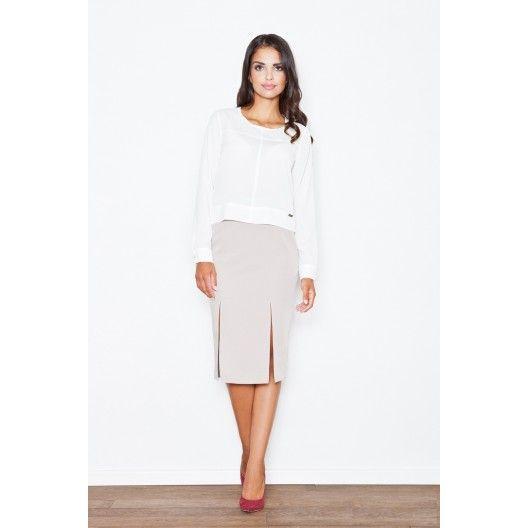 Formálna dámska sukňa bielej farby - fashionday.eu