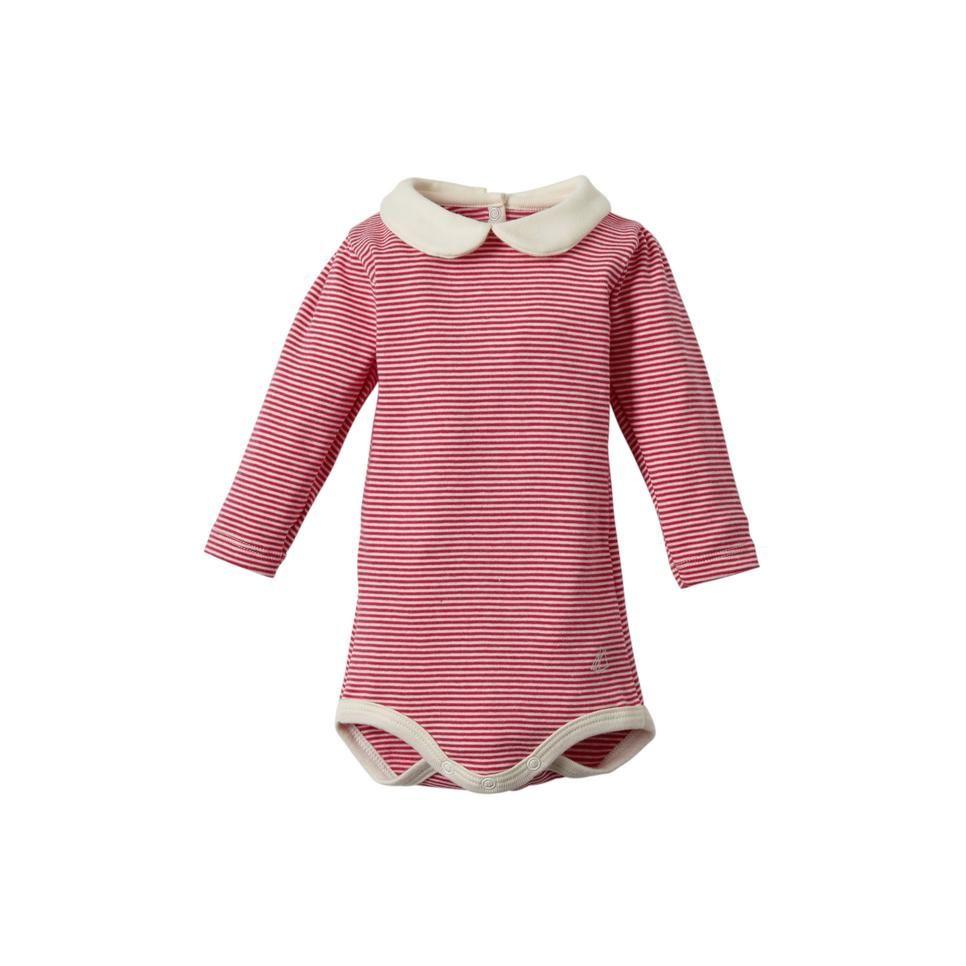 67c2e32fd47ec5 Als cadeau of voor jezelf, deze leuke romper van Petit Bateau #wehkamp  #petit #bateau #romper #meisje #kraag #gestreept #rood #roze #baby #kleding  # ...