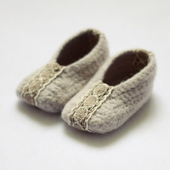felted ballet flats, baby booties, crochet pattern | Mon Petit ...