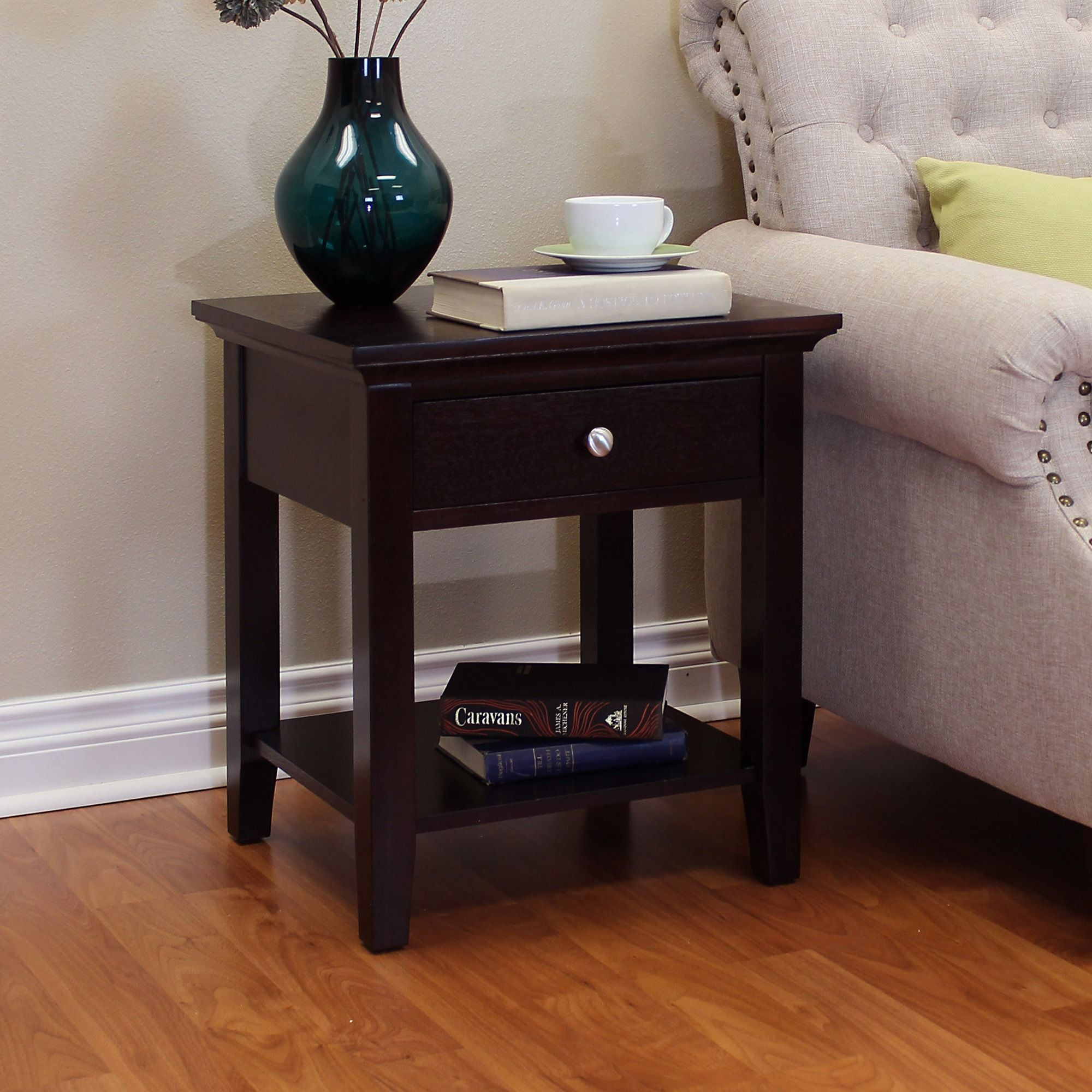 Sofa End Tables With Storage Donnieann Ferndale Espresso End Table Espresso End Table