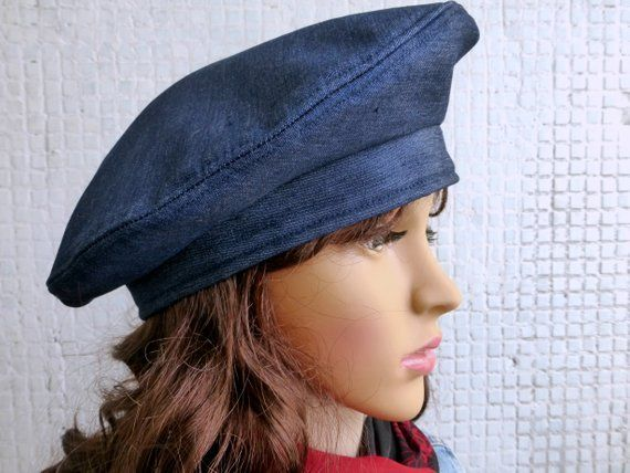 Winter Hat Women Winter Hat Women Beret French Beret French Hat Blue Denim  hat Denim beret Beret Hat 4a629fa089a