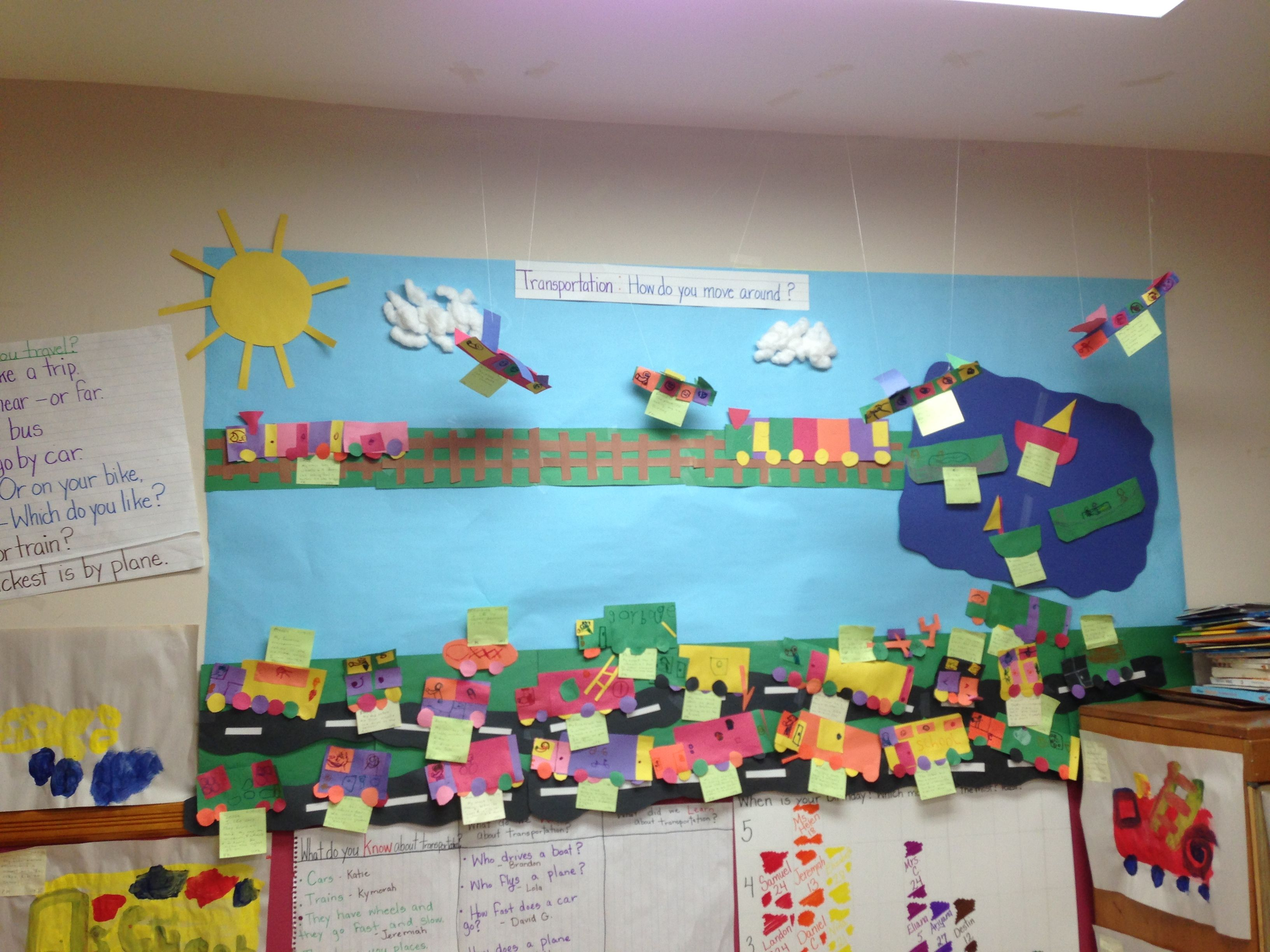 Transportation Bulletin Board Pre Kindergarten