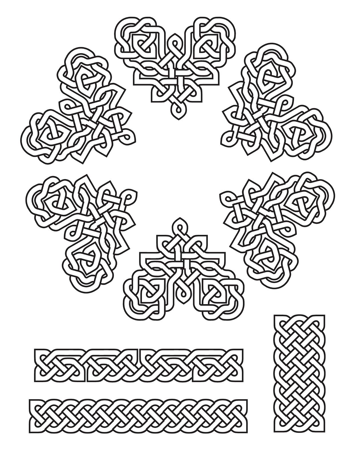 Patterns Created Using Celtic Fonts