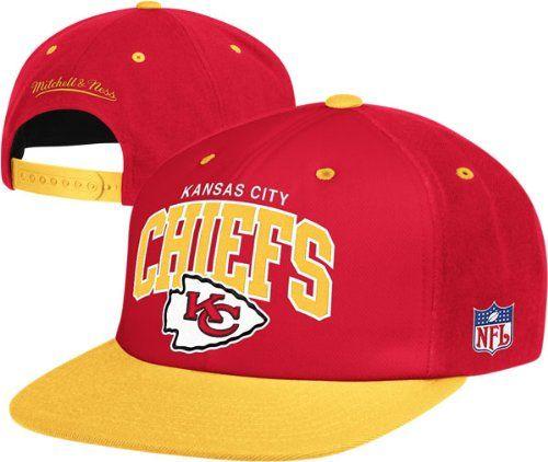 brand new 44a41 49968 Mitchell & Ness Kansas City Chiefs Flat Brim Snapback Hat ...