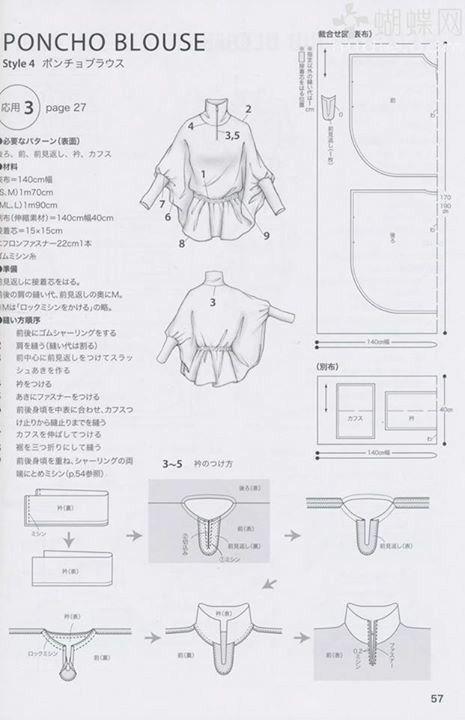 Pin de Belen Mejis en modas | Pinterest | Patrones blusas, Patrones ...