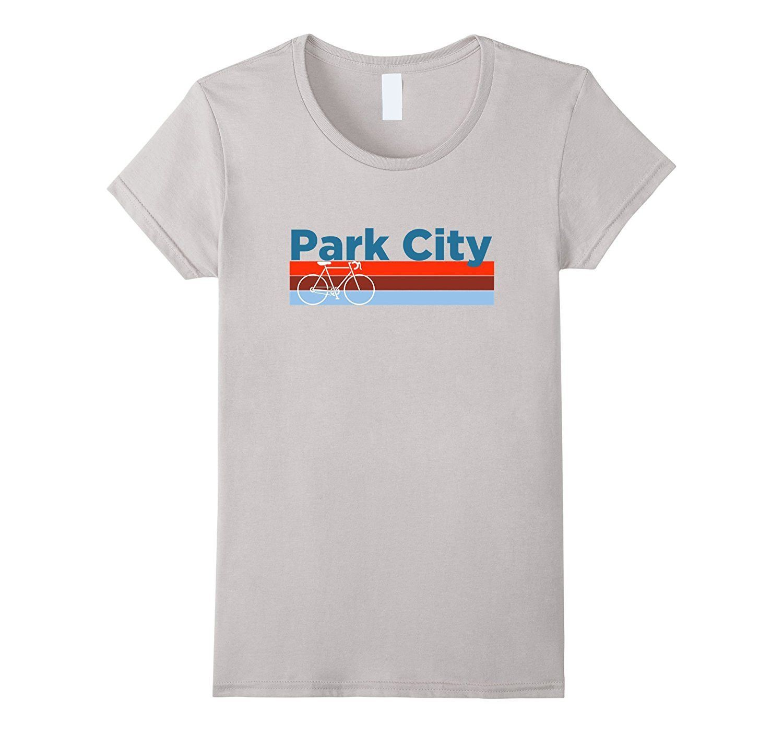 Park City Retro Bicycle & Mountain Bike - Utah T-Shirt