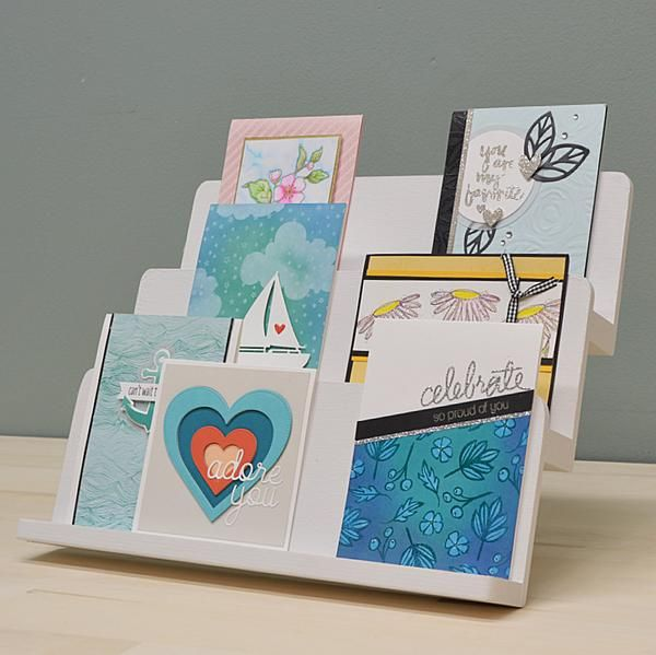 Card Display Stand Diy Instructions Greeting Card Display Stand Display Cards Greeting Card Display