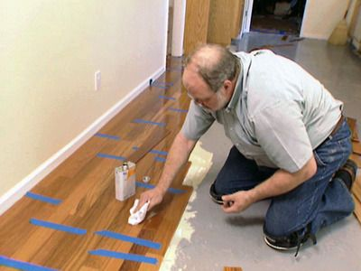 How to Install Hardwood Floors Over Concrete : How-To : DIY Network - Cheap And Chic Curtains Made From Canvas Or A Drop Cloth Und