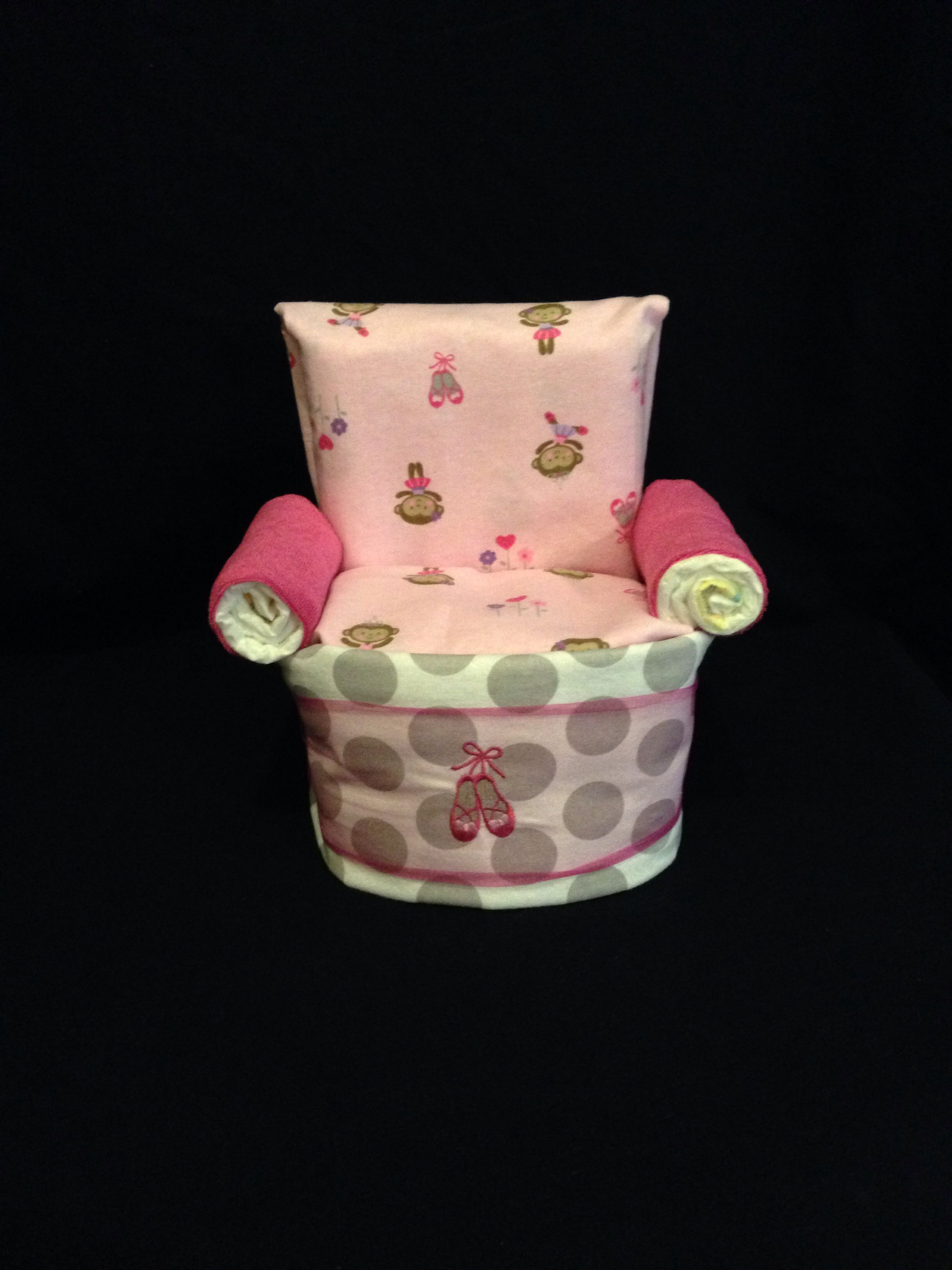 Chair Diaper Cake For Baby Girl