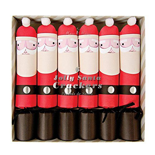 large santa christmas crackers 6 be jolly by meri meri meri meri occasions httpwwwamazon coukdp1625687737refcm_sw_r_pi_dp_q6ebub1544egd