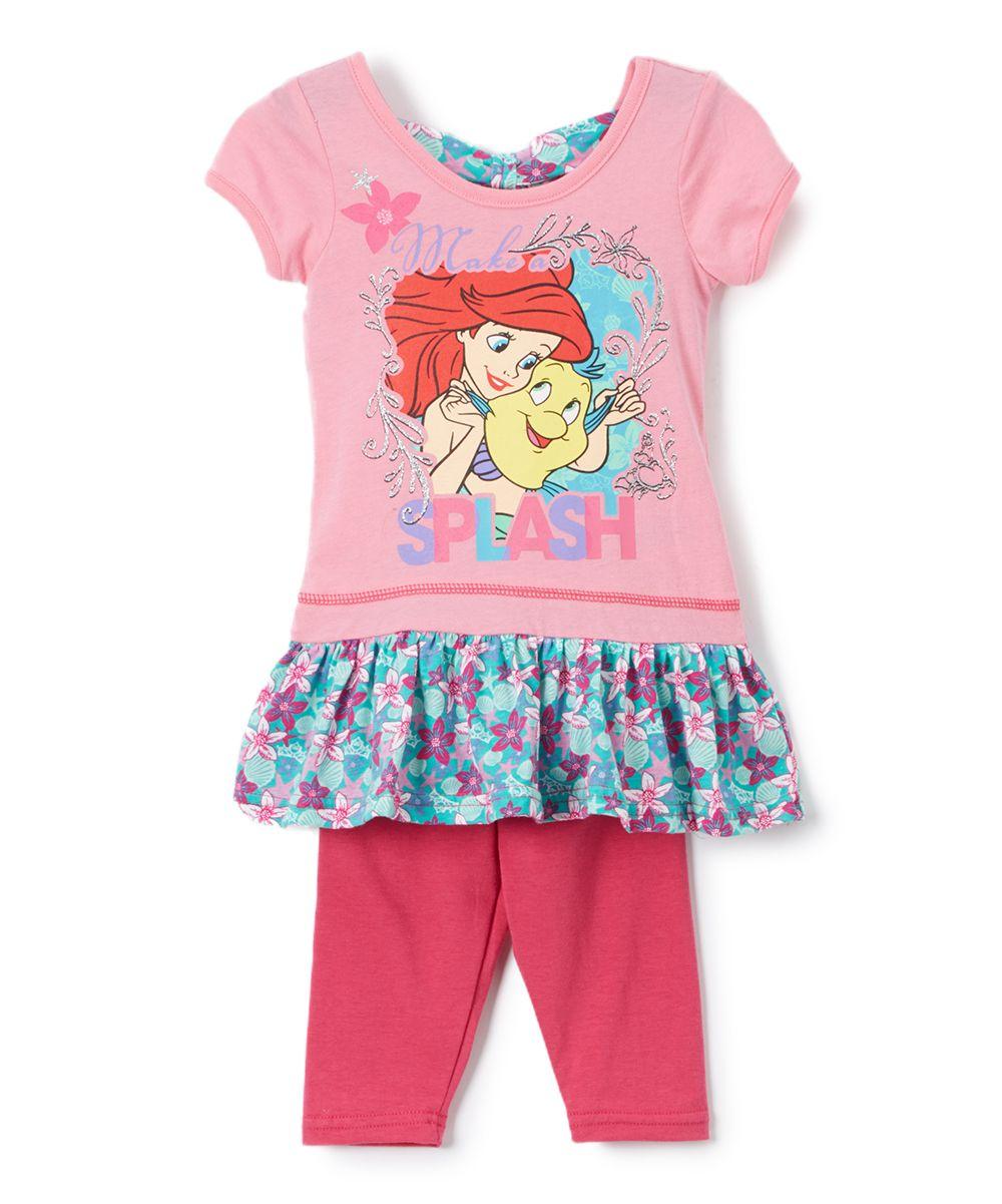 afdbb11186 Pink Disney Princess Ariel Tunic & Leggings - Toddler & Girls ...