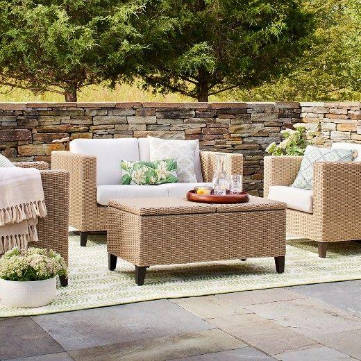 Fullerton 4 Piece Wicker Patio Furniture Set   Threshold™ : Target