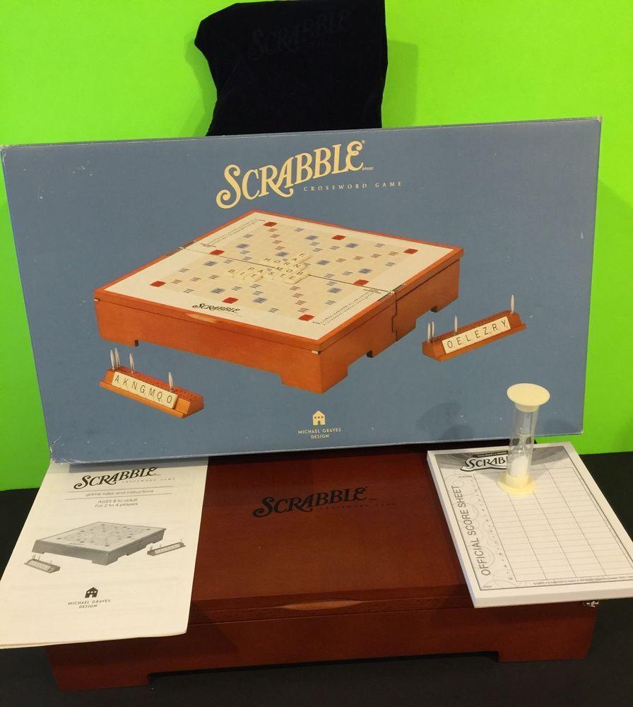 Michael Graves Scrabble Wooden Box Edition Complete With Original Box #Hasbro & Michael Graves Scrabble Wooden Box Edition Complete With Original ... Aboutintivar.Com
