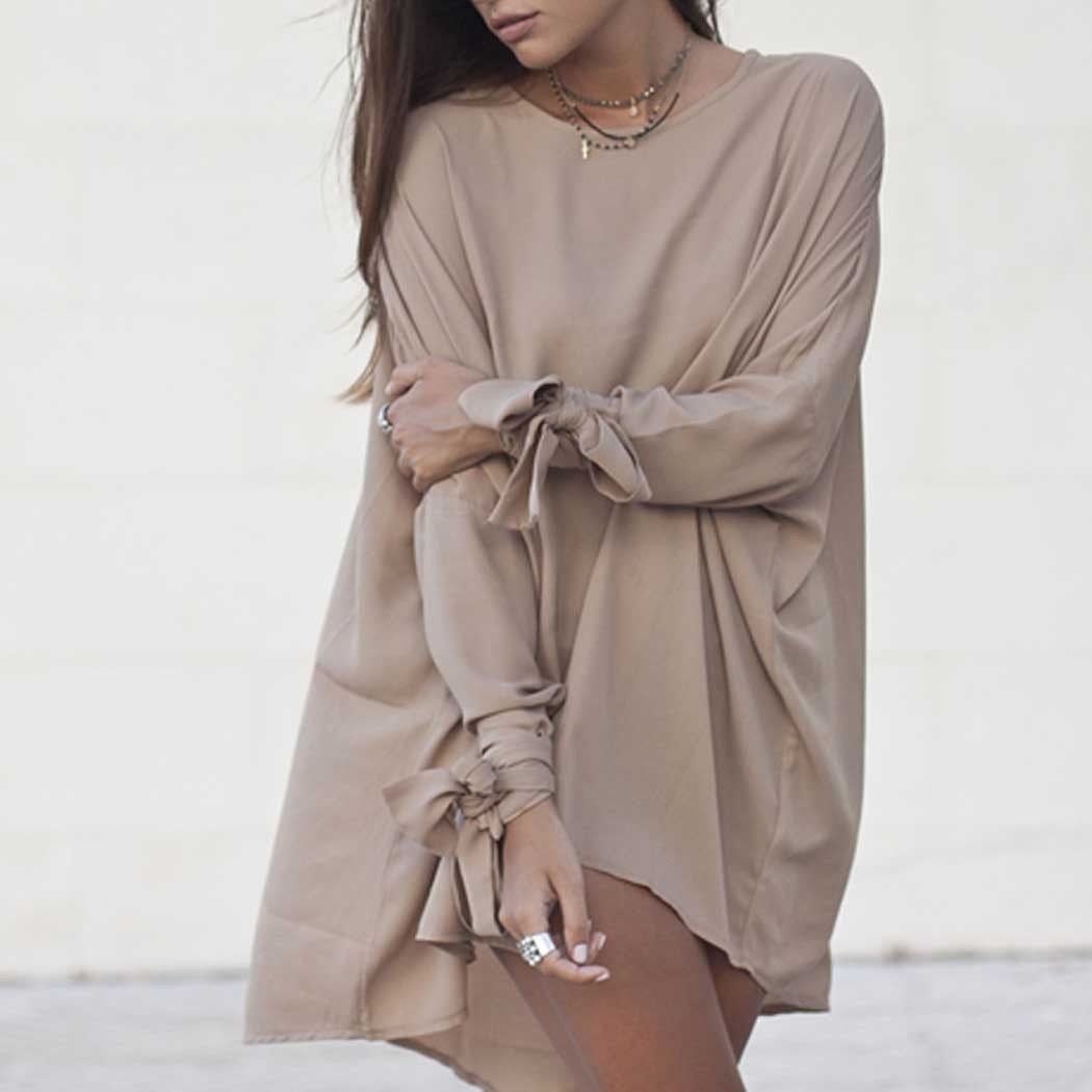 Autumn winter women long sleeve loose casual dress products
