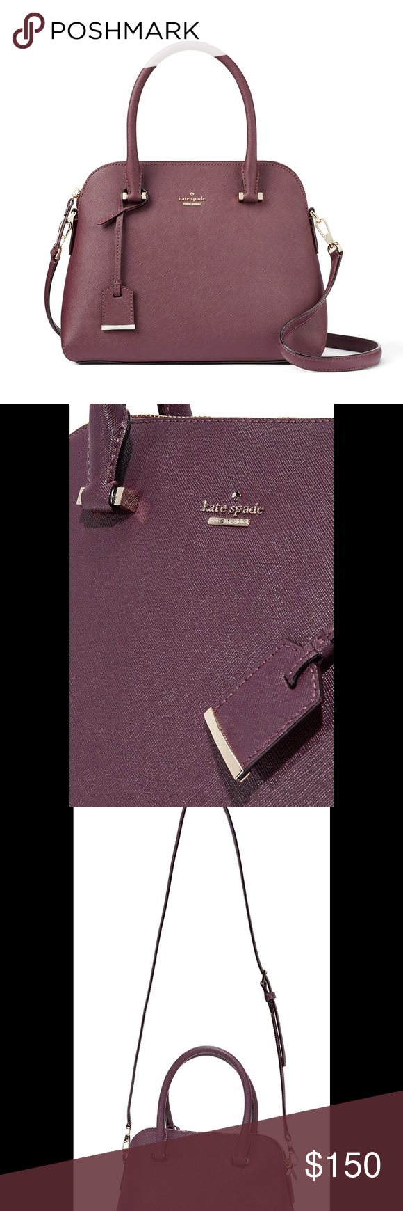 Kate Spade Deep Plum Shoulder Bag Kate