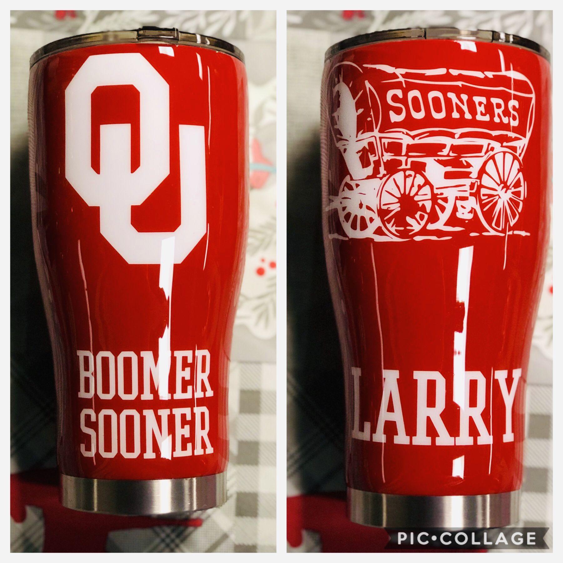 Custom Oklahoma Tumbler Tumbler Cups Diy Glitter Tumbler Cups Glass Tumbler Design