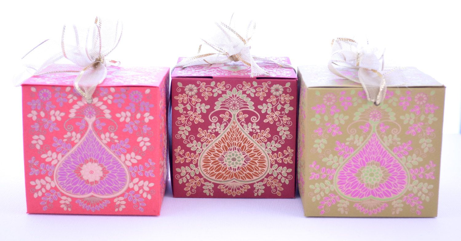 Gift Box with Ribbon, Wedding Gift box, Indian wedding favor, Party ...