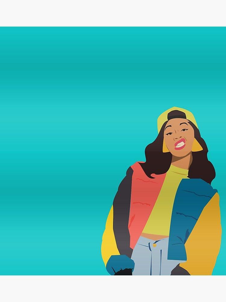 Cardi B Wallpaper Cartoon : cardi, wallpaper, cartoon, Cardi, Poster, StephanieAlex, Cartoon, Wallpapers,, Colorful, Portrait