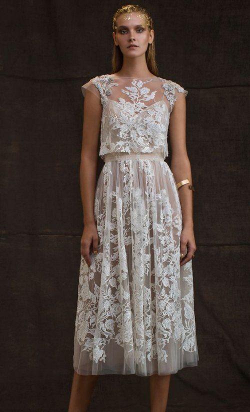 18 Bomemian Chic Summer Wedding Dresses For The Modern Boho Princess Pretty Tea Length