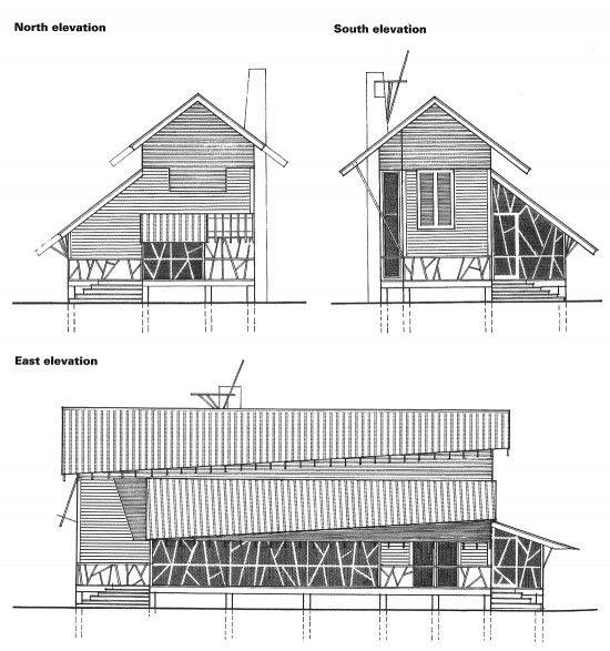 Architectural Residential Elevation : Mockbee coker architects seaside house fl