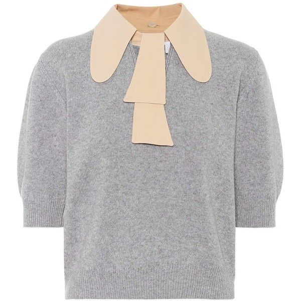 0dba4e32bb1 Chloé Wool and Cashmere Sweater ( 955) ❤ liked on Polyvore featuring tops