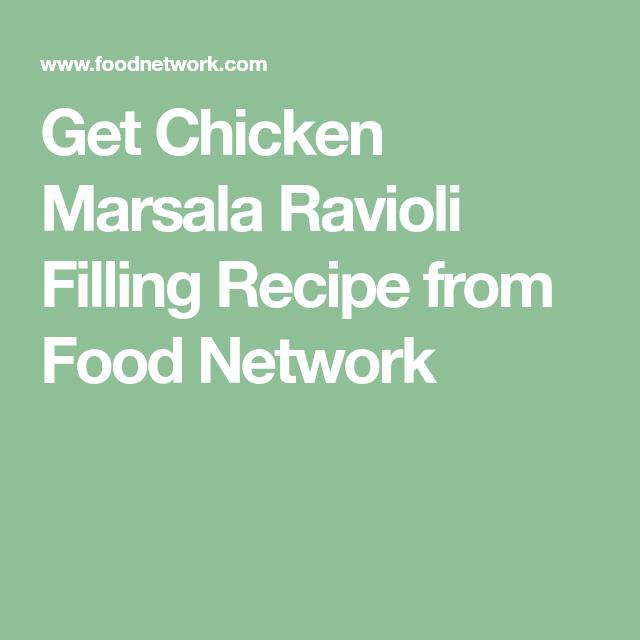 Chicken Marsala Ravioli Filling