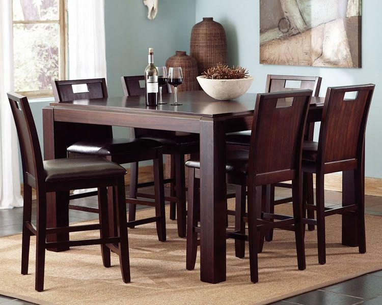 Great 7 Piece Dining Room Set Counter Height