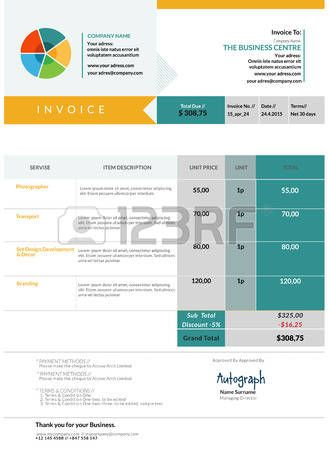 Bleu facture mod le de conception mise en page Banque d\u0027images - sample catering proposal template