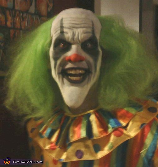 Bobo The Evil Clown Scary Costume | Evil clowns, Halloween costume ...