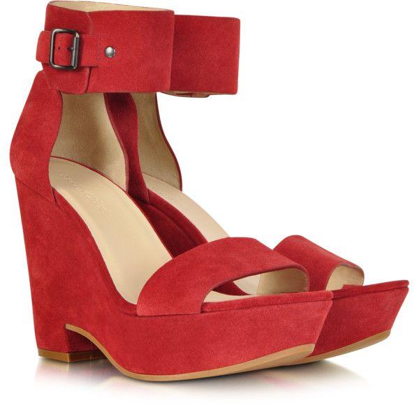 See by Chloé Eva Red Suede Wedge Sandal