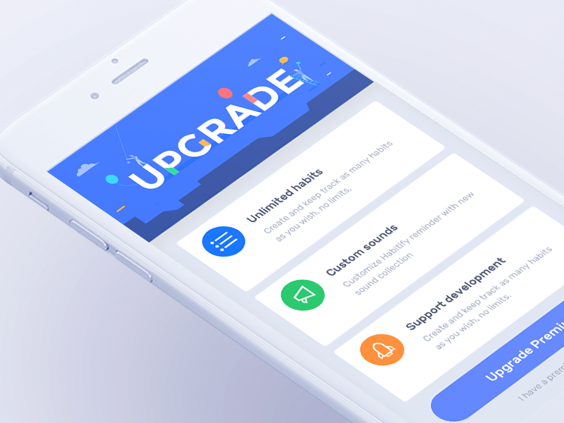 Habitify Upgrade Web App Design App Design Upgrade