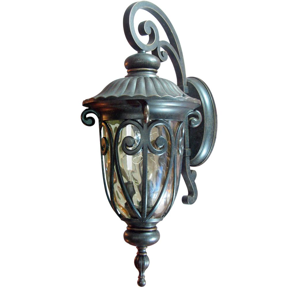 Hailee 3 Light Oil Rubbed Bronze Outdoor Wall Lantern Sconce El591lor Outdoor Wall Lantern Outdoor Walls Exterior Light Fixtures