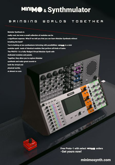 matrixsynth minimo synthmulator modular synthesizer simulator music instruments in 2019. Black Bedroom Furniture Sets. Home Design Ideas