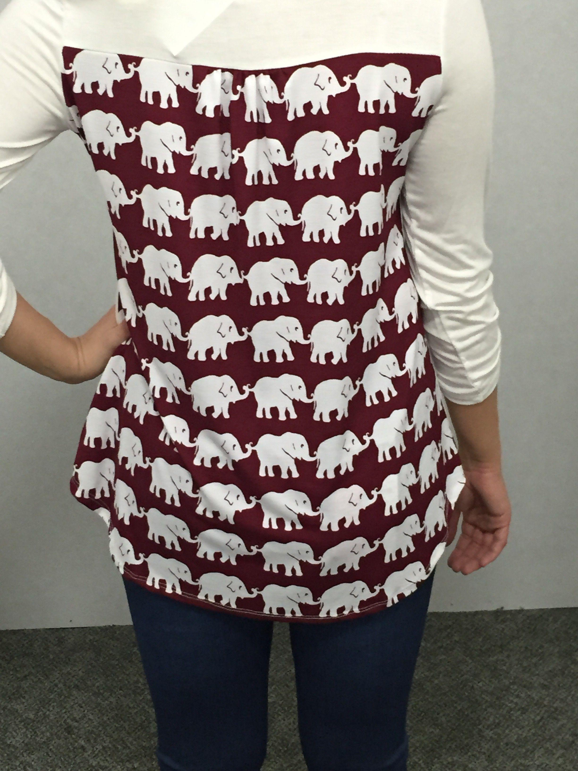 Crimson Elephant shirt CrimsonHoundstooth