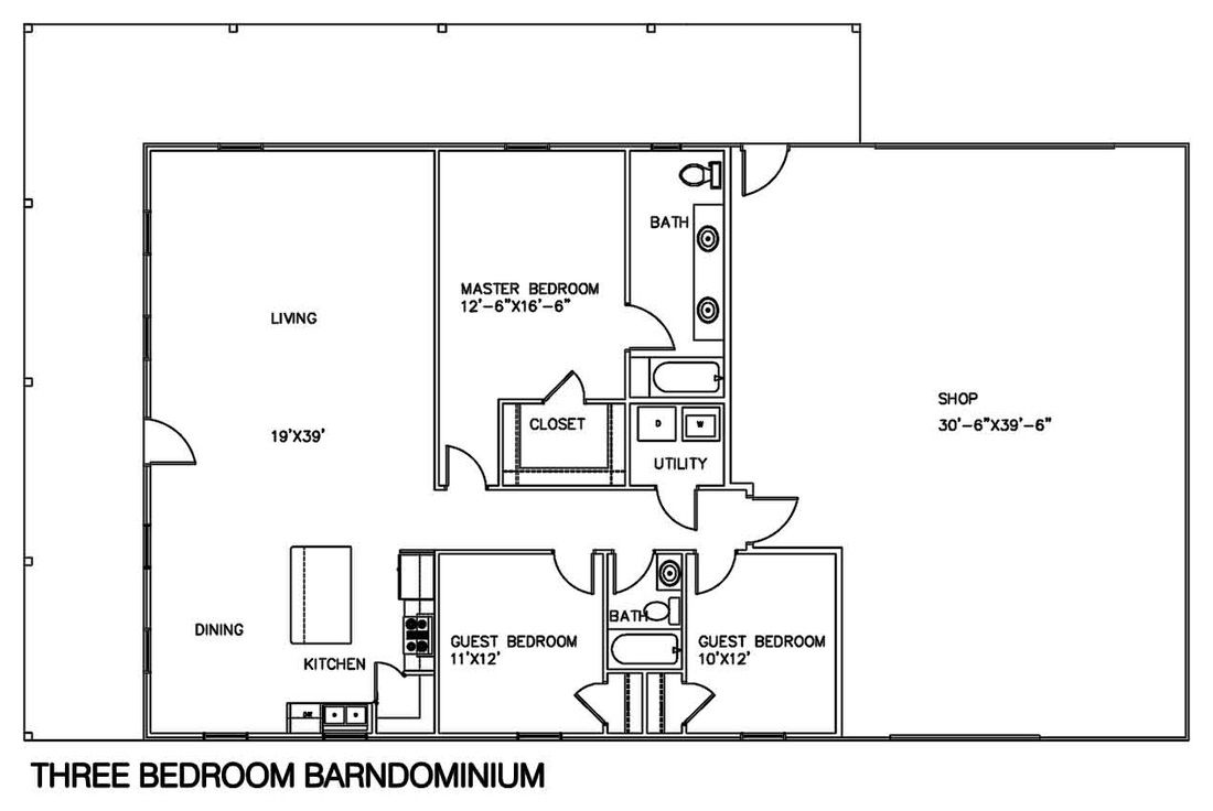 Steel Barn Home Floor Plans | http://viajesairmar.com | Pinterest ...